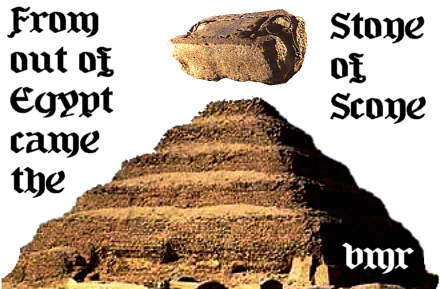 From Out Of Egypt Comes The Stone Of Scone